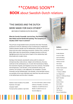 BOOK - Sweden and The Netherlands