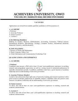 ACHIEVERS UNIVERSITY, OWO