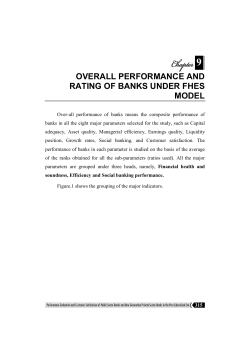 9 overall performance and rating of banks under fhes