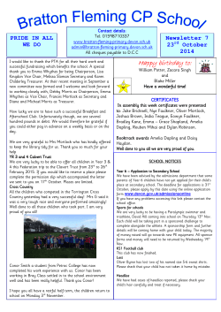 23rd October 2014 - Bratton Fleming Community Primary School