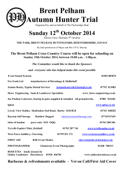 Brent Pelham Autumn Hunter Trial Sunday 12