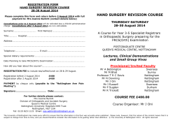 HAND SURGERY REVISION COURSE