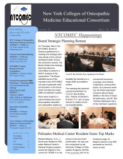 NYCOMEC Newsletter May 15 2014