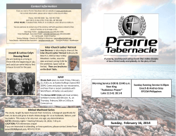 2014 February 16 church bulletin