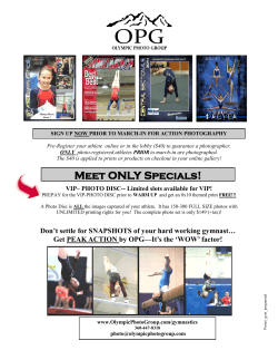 Meet ONLY Specials! - Olympic Photo Group