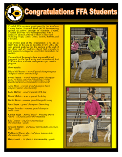 Crandall FFA students participated in the Kaufman County Junior