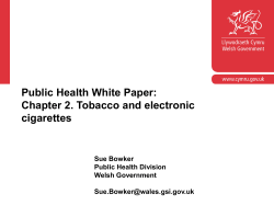History – OHF commitment PfG commitment Green Paper/Big Health