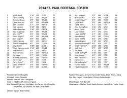2014 ST. PAUL FOOTBALL ROSTER
