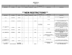 NEW RESTRICTIONS - Oklahoma Department of Public Safety