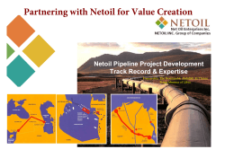 Partnering with Netoil for Value Creation - Catalyst