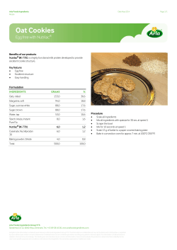 Oat Cookies - Arla Foods Ingredients