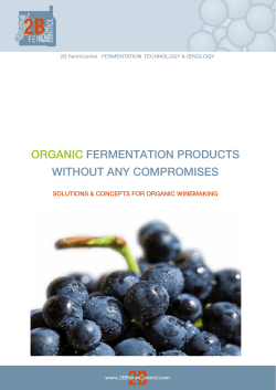 organic fermentation products without any compromises