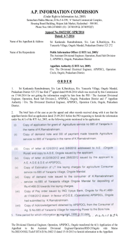 10432/IC-SPR/2014 - Andhra Pradesh Information Commission