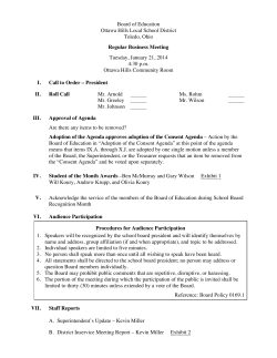 Agenda 01/21/2014 - Ottawa Hills School District