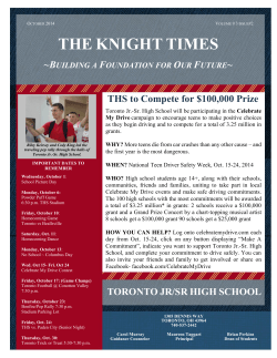 THE KNIGHT TIMES - Toronto City Schools
