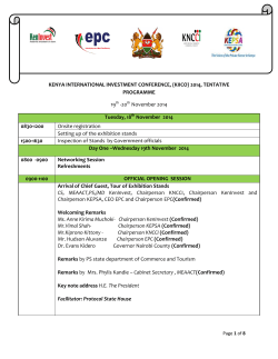Download Program - Kenya International Investment Conference