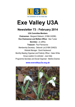 February - EXE VALLEY U3A