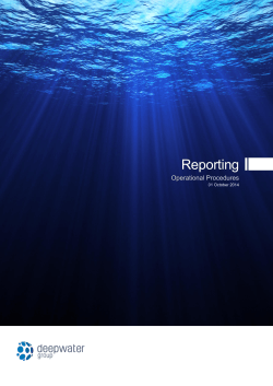 Reporting Operational Procedures 2014-15