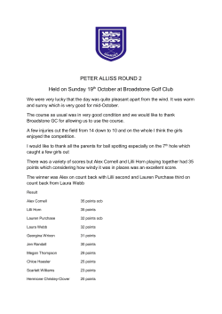 Peter Allis Round 2 2015 - Dorset Ladies County Golf Association