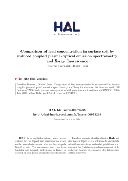 Comparison of lead concentration in surface soil by induced
