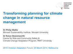 Transforming planning for climate change in NRM