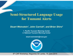 Semi-Structured Language Usage for Tsunami Alerts