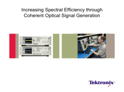 Increasing spectral efficiency through Coherent Optical Signal
