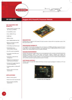 Rugged cPCI PowerPC Processor Module DP-OBC