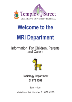 Welcome to the MRI Department