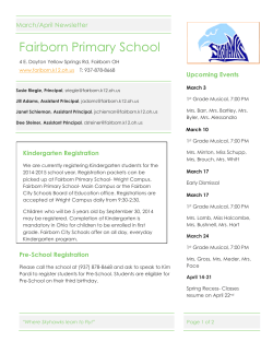Fairborn Primary School Newsletters