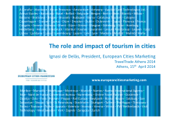 The role and impact of tourism in cities