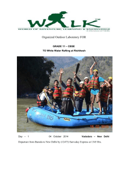 White Water Rafting at Rishikesh - Navrachana International School