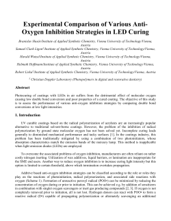 Oxygen Inhibition Strategies in LED Curing