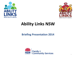 Ability Links NSW Briefing Presentation 2014