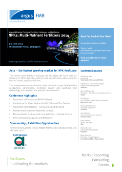 NPKs: Multi-Nutrient Fertilizers 2014