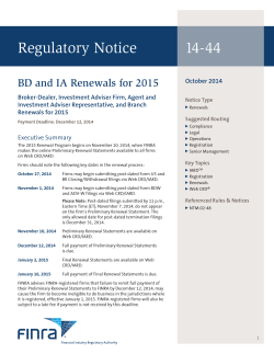 Regulatory Notice 14-44