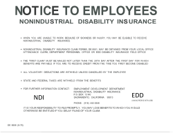 notice to employees nonindustrial disability ins urance