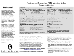 LLL of Greater San Jose Current Meeting Notice