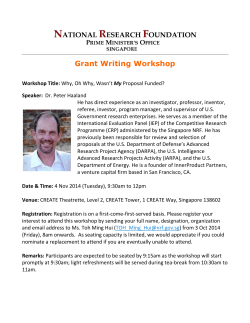 NRF: Grant Writing Workshop by Peter Haaland