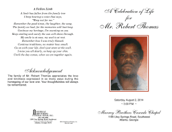 Mr. Robert Thomas - Murray Brothers Funeral Home