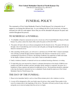 funeral policy - First United Methodist Church of North Kansas City