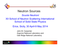 Neutron Sources - SoNS – School of Neutron Scattering