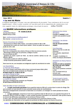 bulletin municipal 1 printemps 2014