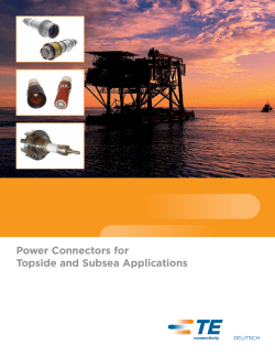 Power Connectors for Topside and Subsea Applications