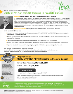 Utility of 18F-NaF PET/CT Imaging in Prostate Cancer