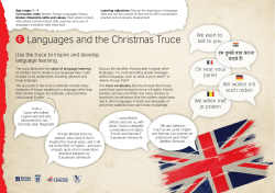 Activity E: Languages and the Christmas Truce