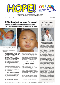 NAM Project moves forward