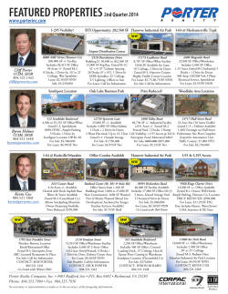 FEATURED PROPERTIES2nd Quarter 2014