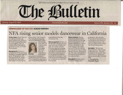 NFA rising senior models dancewear in California
