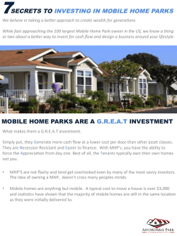 mobile home parks are a great investment 7 secrets to investing in